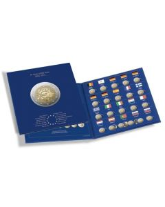 "Álbum-para-monedas-PRESSO,-Euro-Collection-para-monedas-de-2-Euros-""DEK"""