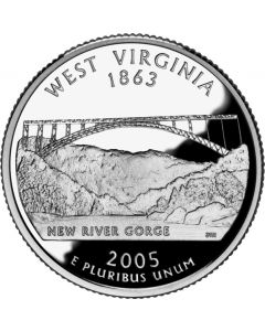 Cuarto de dolar - 2005 West Virgina (Quarters Dollars)