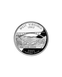 Cuarto de Dolar 2005  West Virgina P-D. (Quarters Dollars)
