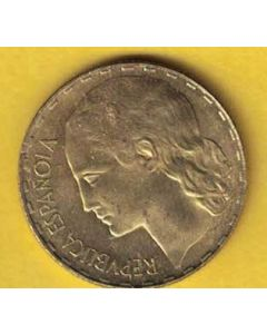 1peseta 1937 S/C brillo original
