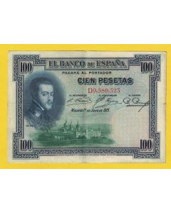 Billete 100 ptas 1 julio 1925