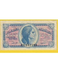 Billete 50 centimos 1937 MBC