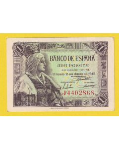 Billete 1 ptas 15 junio 1945 S/C