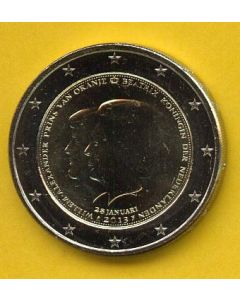 Moneda Holanda 2013, 2€  Beatriz y Willem Alexander