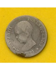 50 Centimos Alfonso XIII 1889 *(--9) MP M