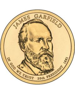 Estados Unidos 1 Dolar 2011 James A. Garfield  P-D, 20º presidente.