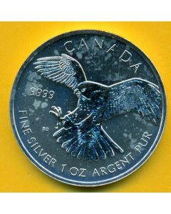 Canadá 2014, AGUILA IMPERIAL 1onza plata, 5 dólares.