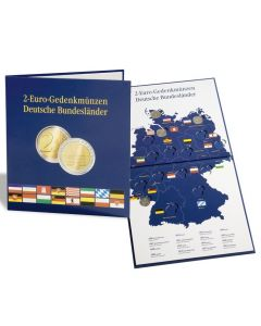 "Álbum-para-monedas-PRESSO,-Euro-Collection-para-monedas-de-2-Euros-""Deutsche-Bundesländer"""