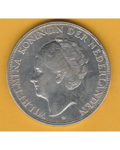 Moneda Holanda 2 1/2 gulden 1930