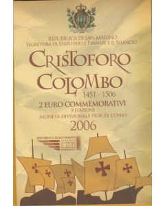 San Marino 2006 2€, Cristobal Colon.
