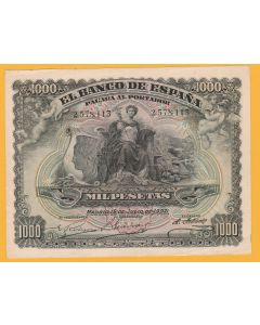 Billete 1000 pesetas 15 de julio 1907