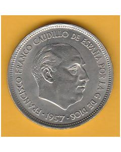 Moneda 25 ptas Franco 1957 *58 S.C.