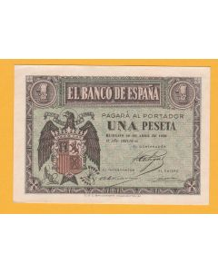 Billete 1 ptas  Franco 30 Abril 1938 S.C.
