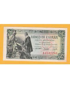 Billete 1 ptas  Franco 30 Abril 1938 S.C..