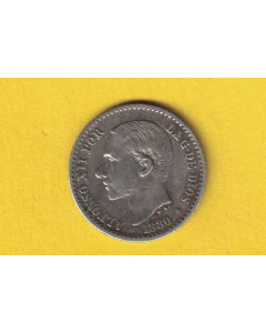 Alfonso Xii 0.50 centimos 1880 *8 *0