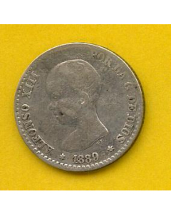 50 Centimos Alfonso XIII 1889 *(8-9) MP M