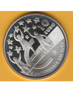 Moneda 10 €  X aniversario del euro 2012 proof