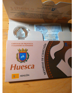 Moneda Huesca Catedral  año 2010 plata proof 5 euros